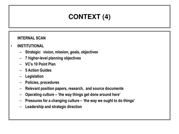 CONTEXT (4)