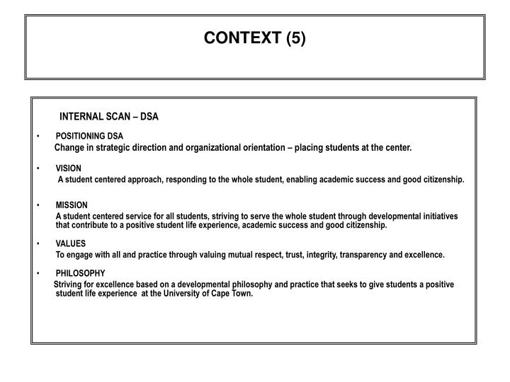CONTEXT (5)