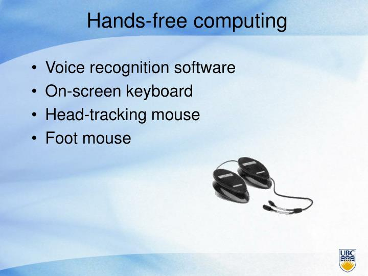 Hands-free computing