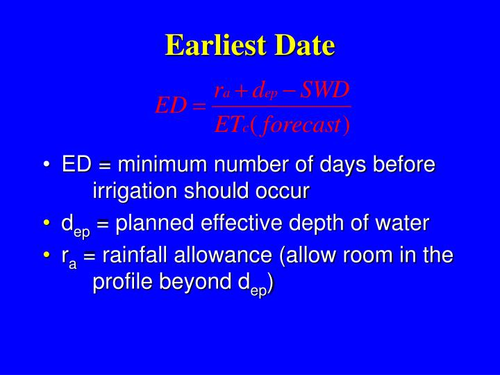 Earliest Date