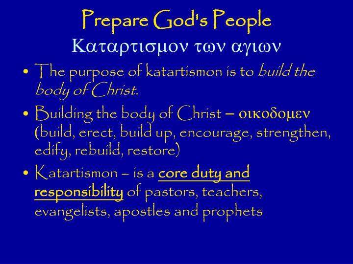 Prepare God's People