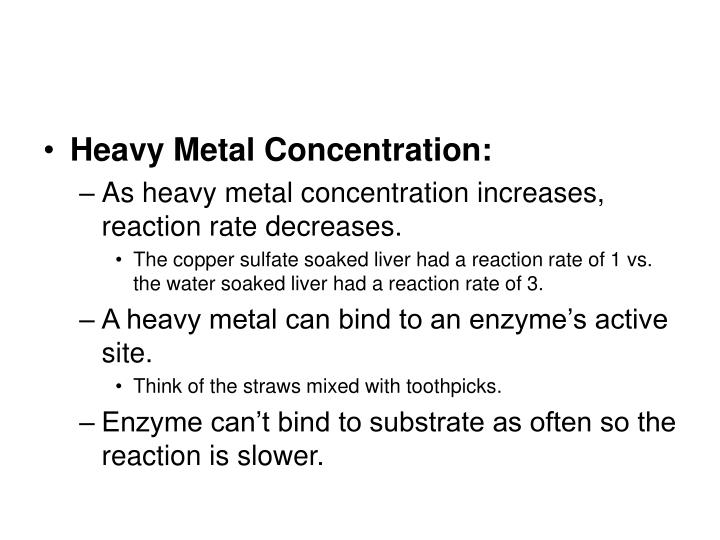 Heavy Metal Concentration: