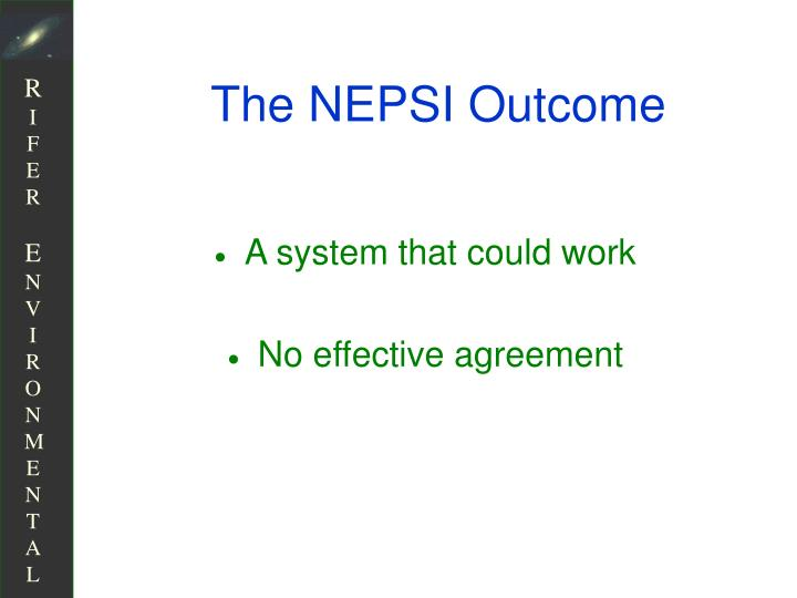 The NEPSI Outcome
