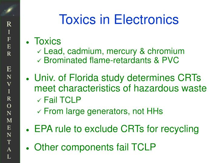 Toxics in Electronics
