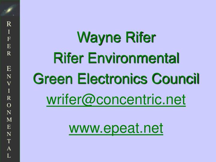 Wayne Rifer