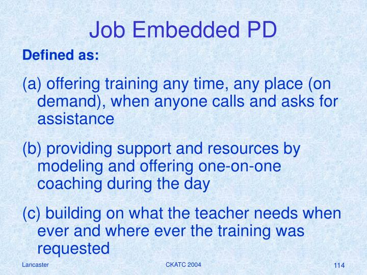 Job Embedded PD
