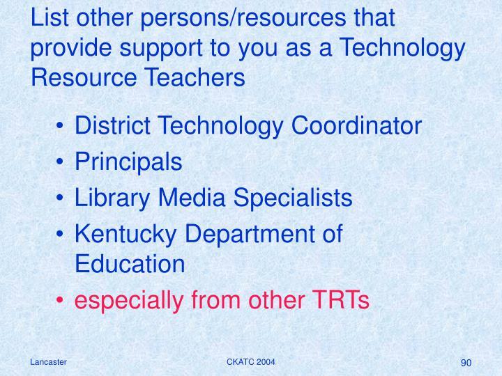 District Technology Coordinator