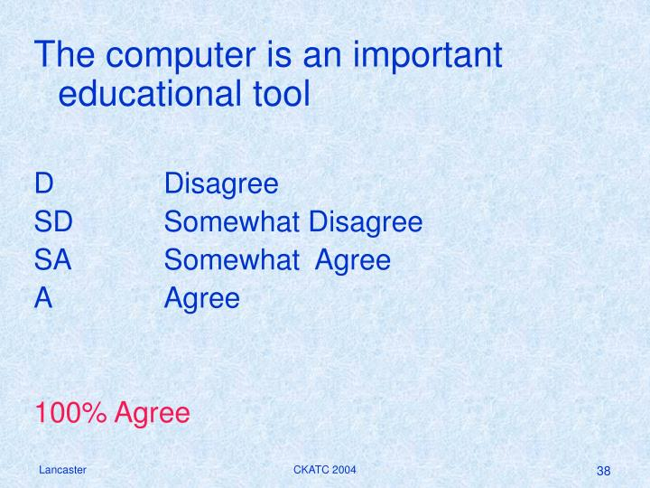The computer is an important educational tool