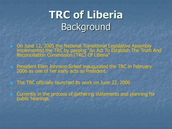 TRC of Liberia