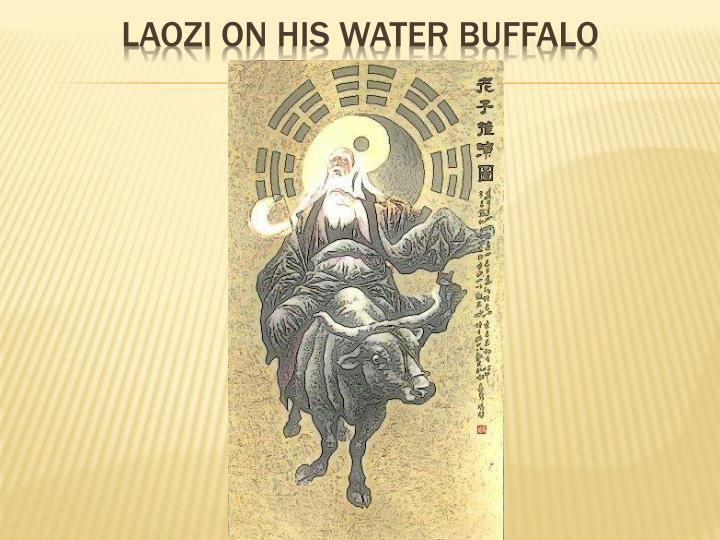 Laozi on his water buffalo