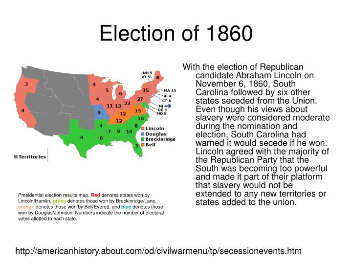 election of 1860 Because of its extraordinary consequences and because of abraham lincoln's  place in the american pantheon, the presidential election of 1860 is probably the .