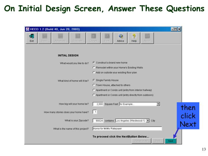 On Initial Design Screen, Answer These Questions