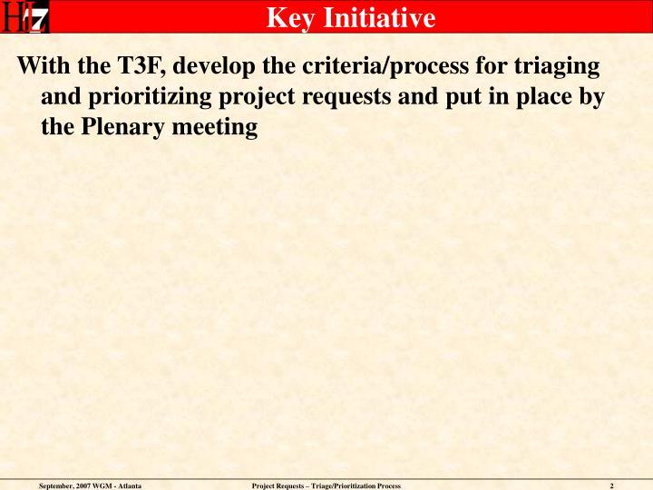 Key Initiative