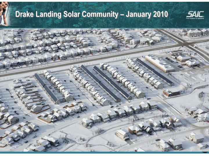 Drake Landing Solar Community – January 2010