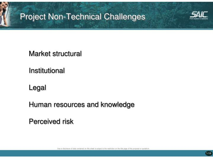 Project Non-Technical Challenges
