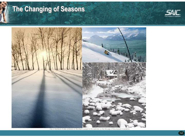 The Changing of Seasons
