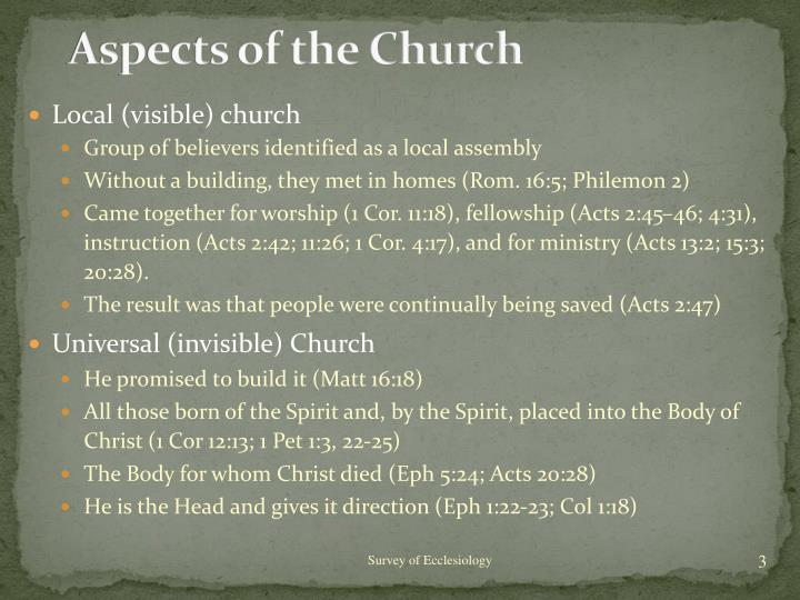 Aspects of the Church