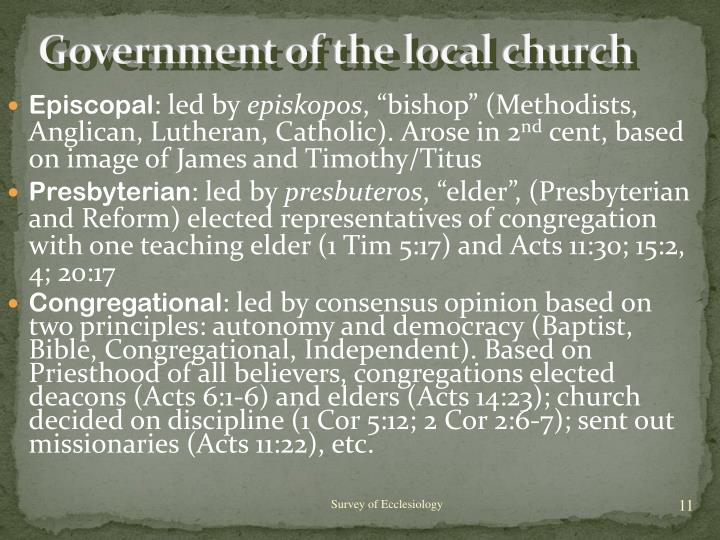 Government of the local church