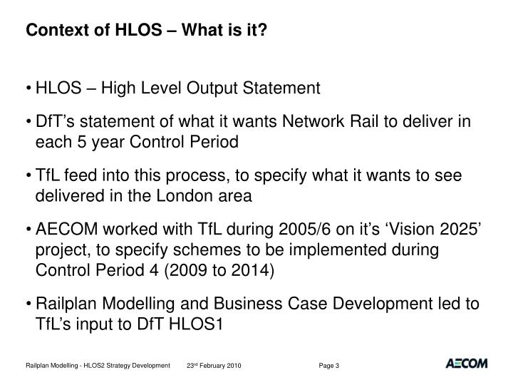 Context of HLOS – What is it?