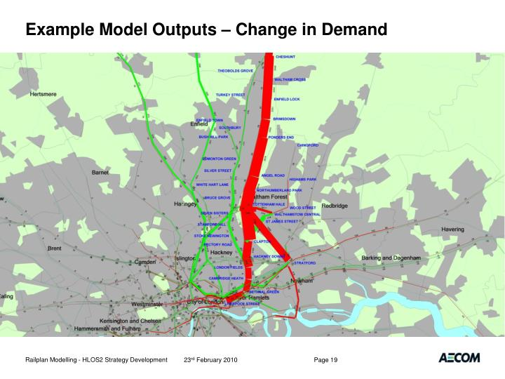 Example Model Outputs – Change in Demand