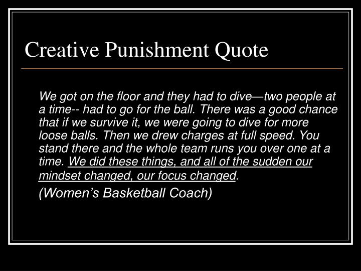 Creative Punishment Quote