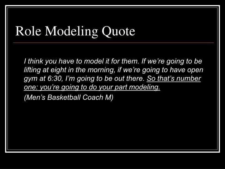 Role Modeling Quote