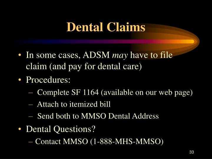 Dental Claims