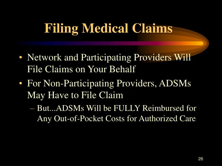 Filing Medical Claims