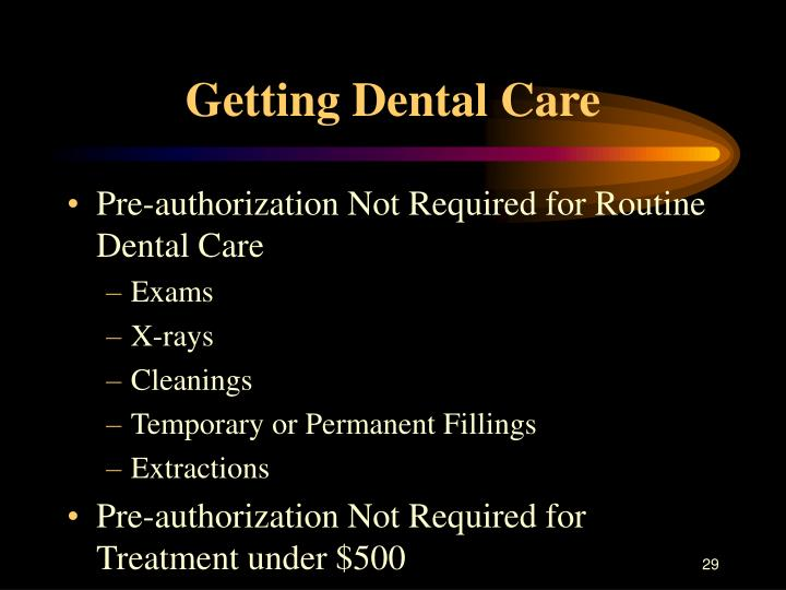 Getting Dental Care