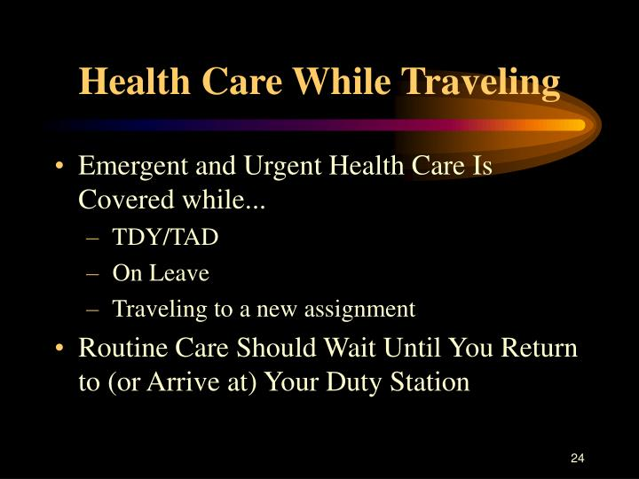 Health Care While Traveling