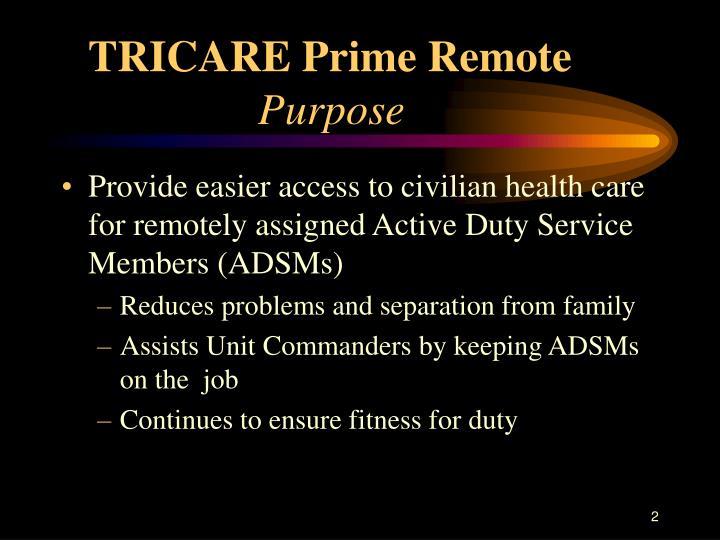 TRICARE Prime Remote