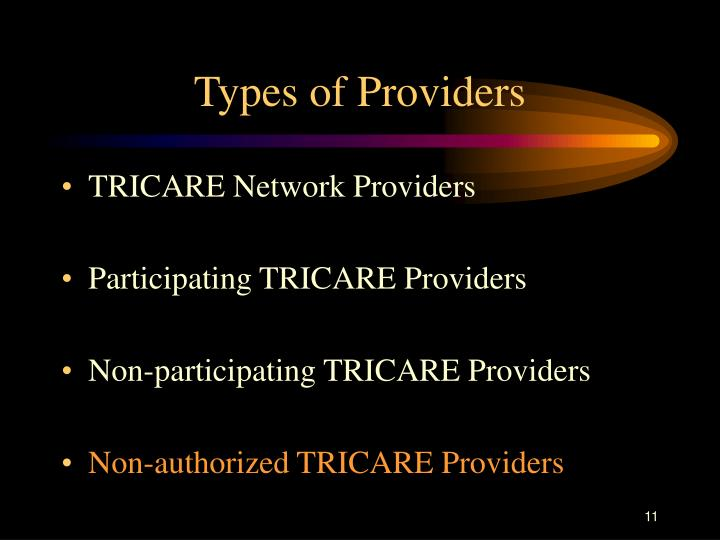 Types of Providers