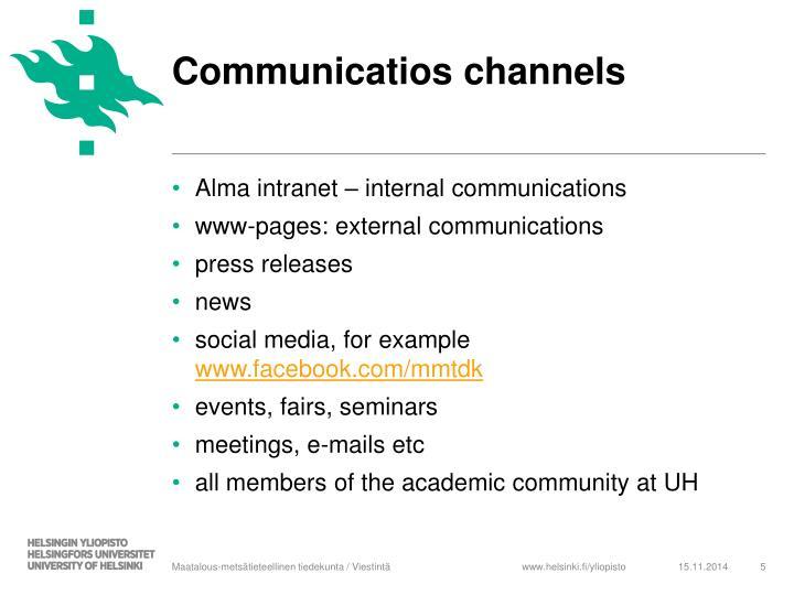 Communicatios