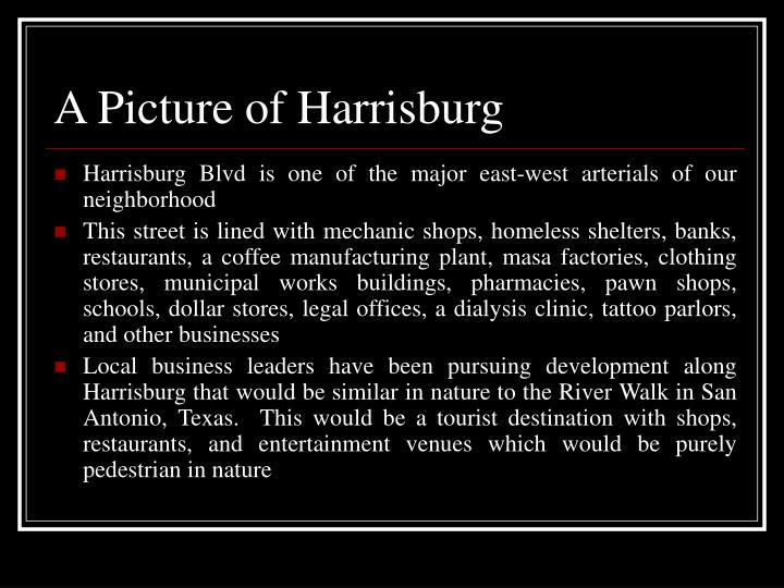 A Picture of Harrisburg