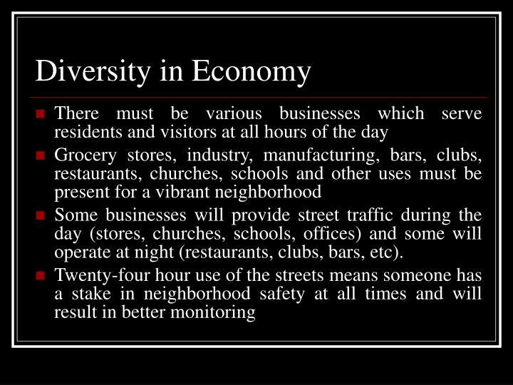 Diversity in Economy