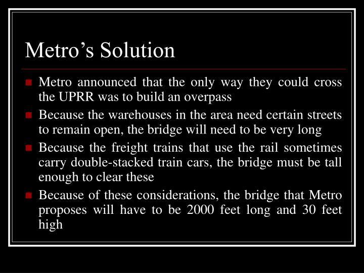Metro's Solution
