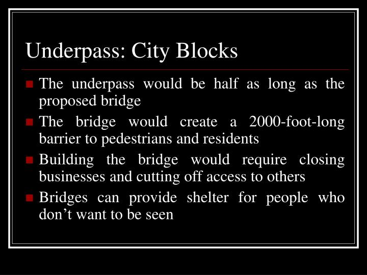 Underpass: City Blocks