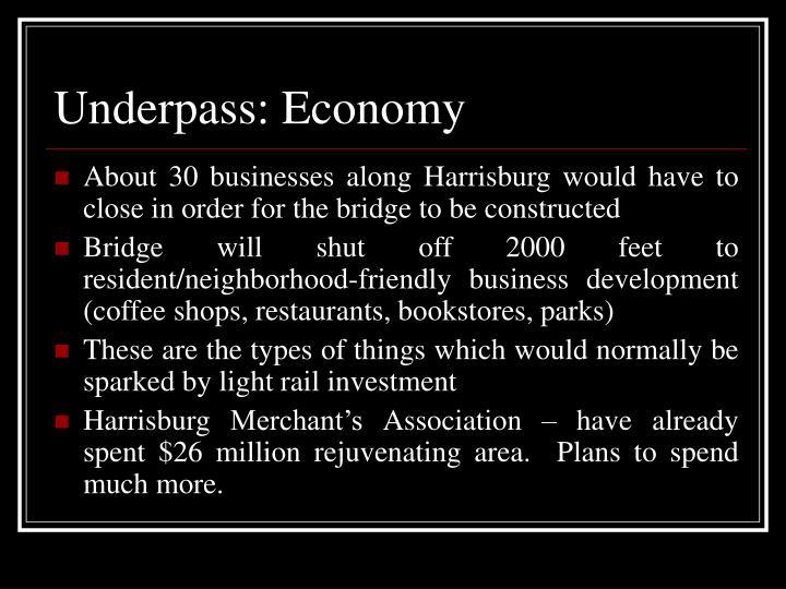 Underpass: Economy
