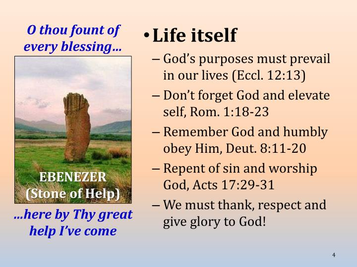 O thou fount of every blessing…