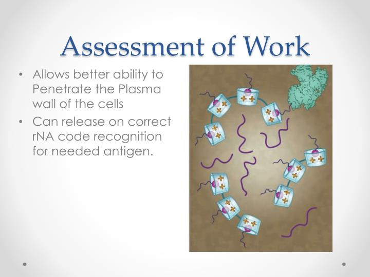 Assessment of Work