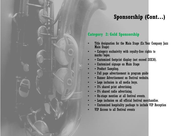 Sponsorship (Cont…)
