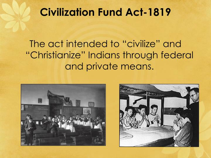 Civilization Fund Act-1819