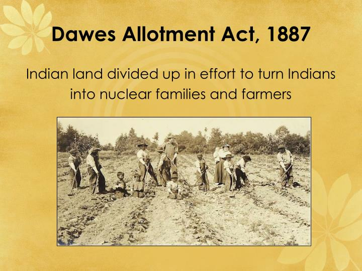 Dawes Allotment Act, 1887