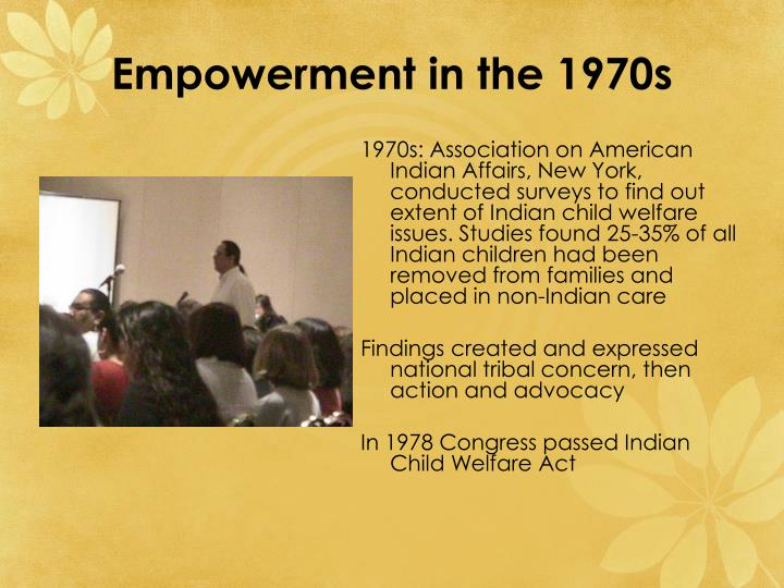 Empowerment in the 1970s