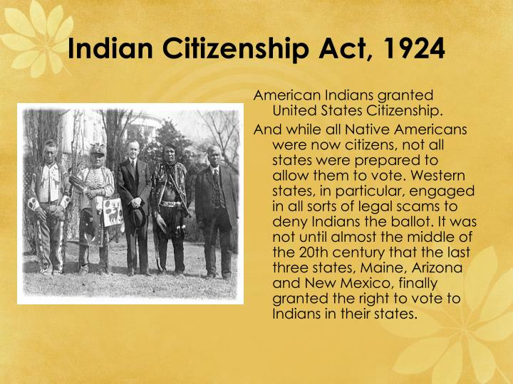 Indian Citizenship Act, 1924