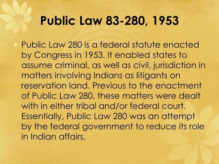 Public Law 83-280, 1953