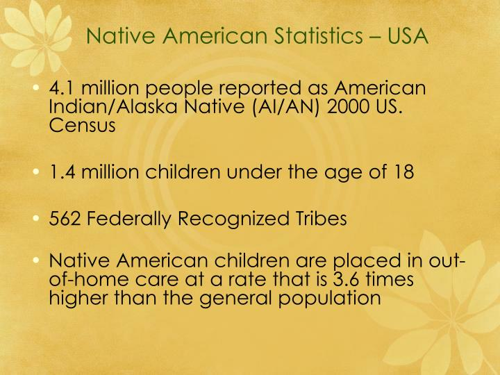 Native American Statistics – USA