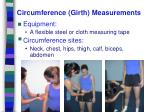 circumference girth measurements