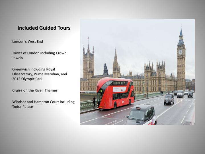Included Guided Tours