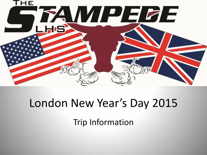 London New Year's Day 2015